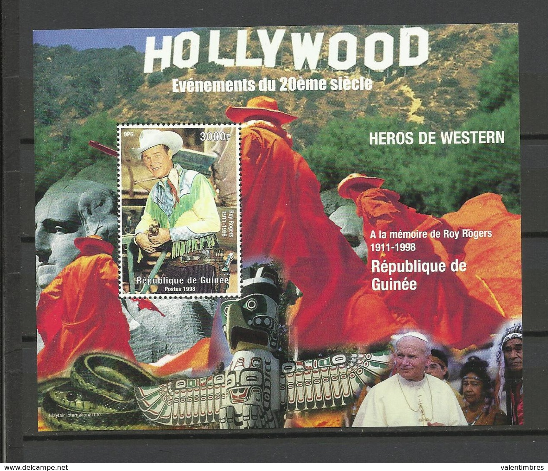 Guinée YT**   BF 159  Cinéma  Hollywood Roy Rogers Pape Jean Paul II - Film