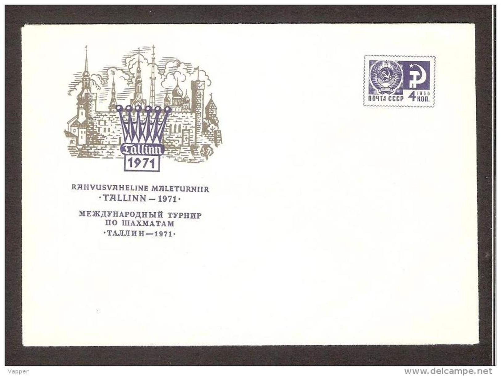 Schach Ajedrez Echecs Tallinn-1971 Chess Int. Tournament MNH Postal Stationary - Schaken