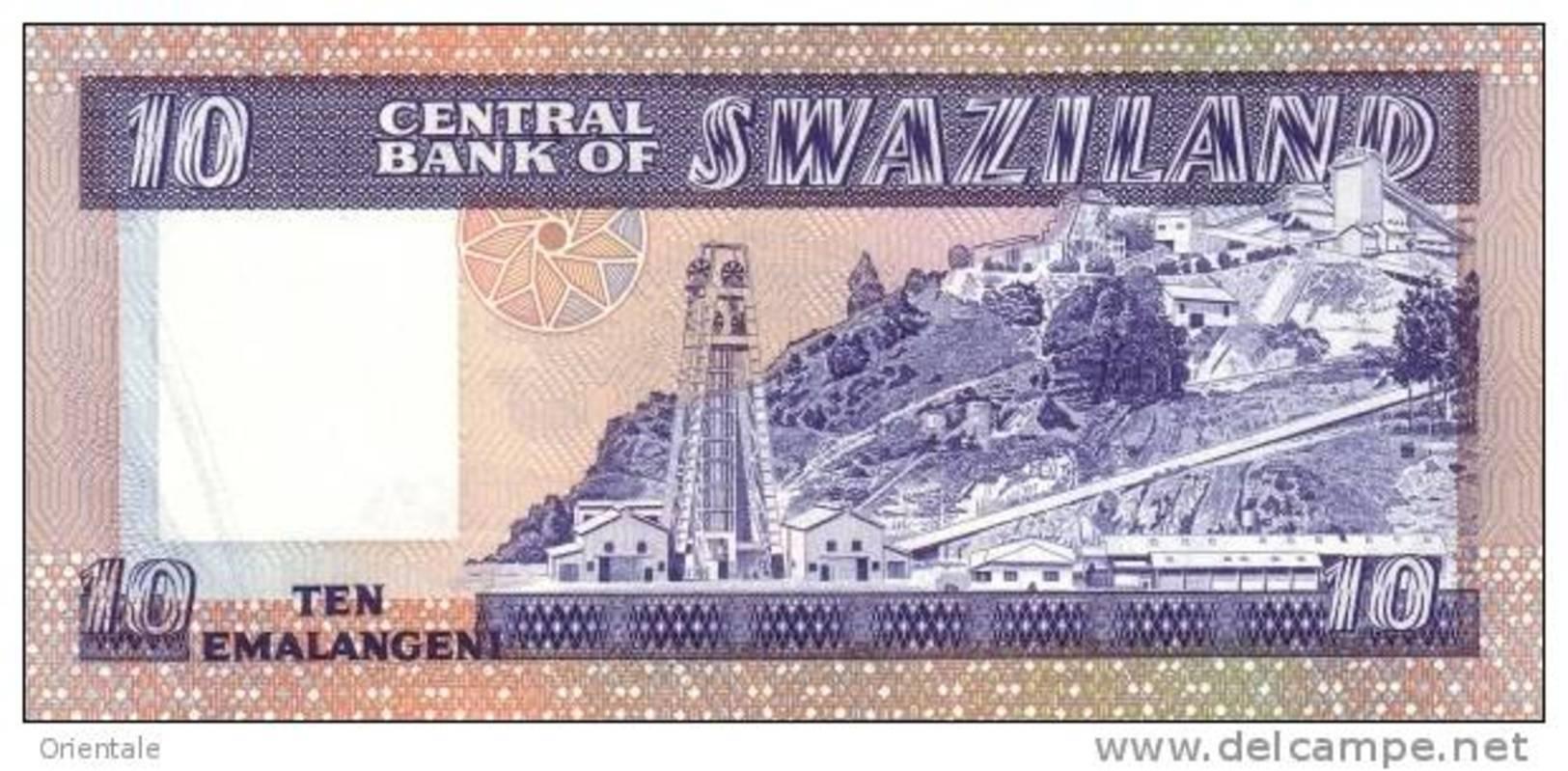 SWAZILAND P. 10c 10 E 1985 UNC - Swaziland