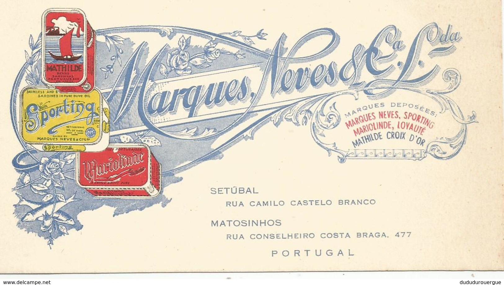 PORTUGAL , SETUBAL : MARQUES NEVES - Publicités
