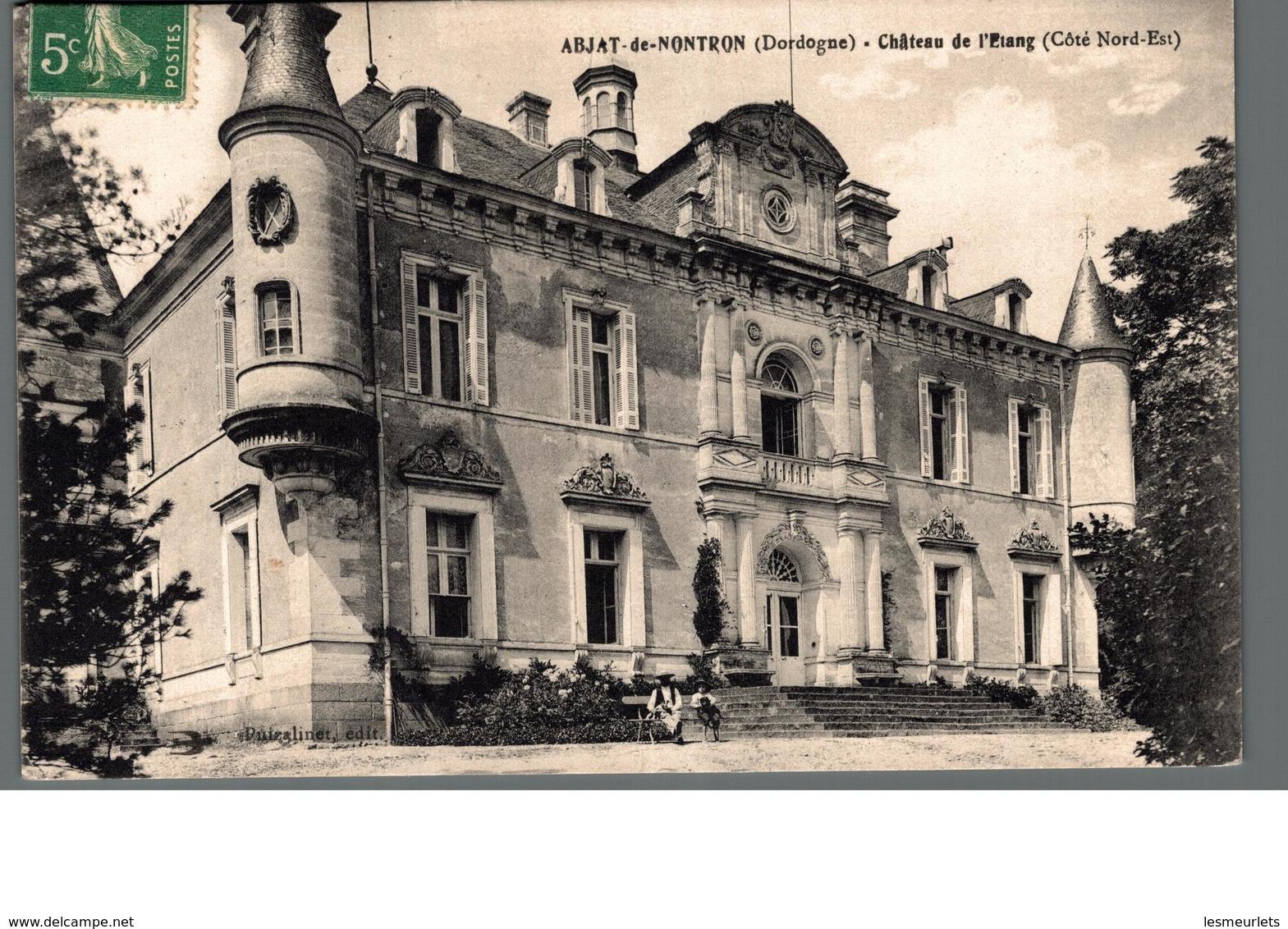 Cpa 24 Abjat De Nontron Dordogne Château De L'Etang Côté Nord Est Déstockage à Saisir - France