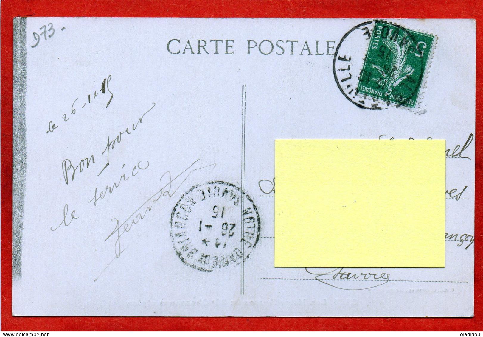 CPA - D73 - ALBERTVILLE -  Oblitéré 1915 - Les  Mitrailleuses  Du  22e  Chasseurs  Alpins - No 2865 - ( Beau Plan Animée - Albertville