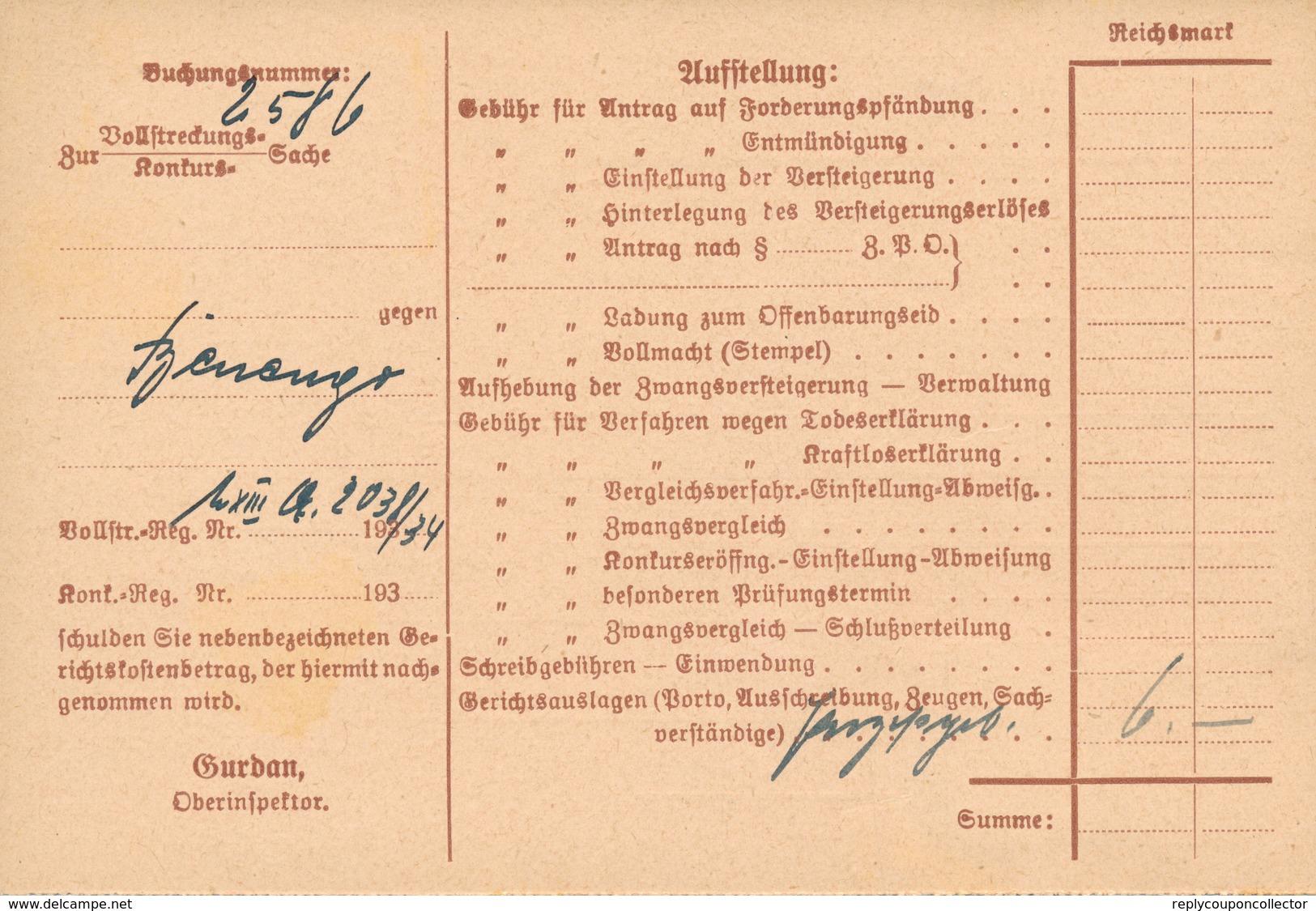 MÜNCHEN - 1934 , Nachnahme-Karte - Deutschland