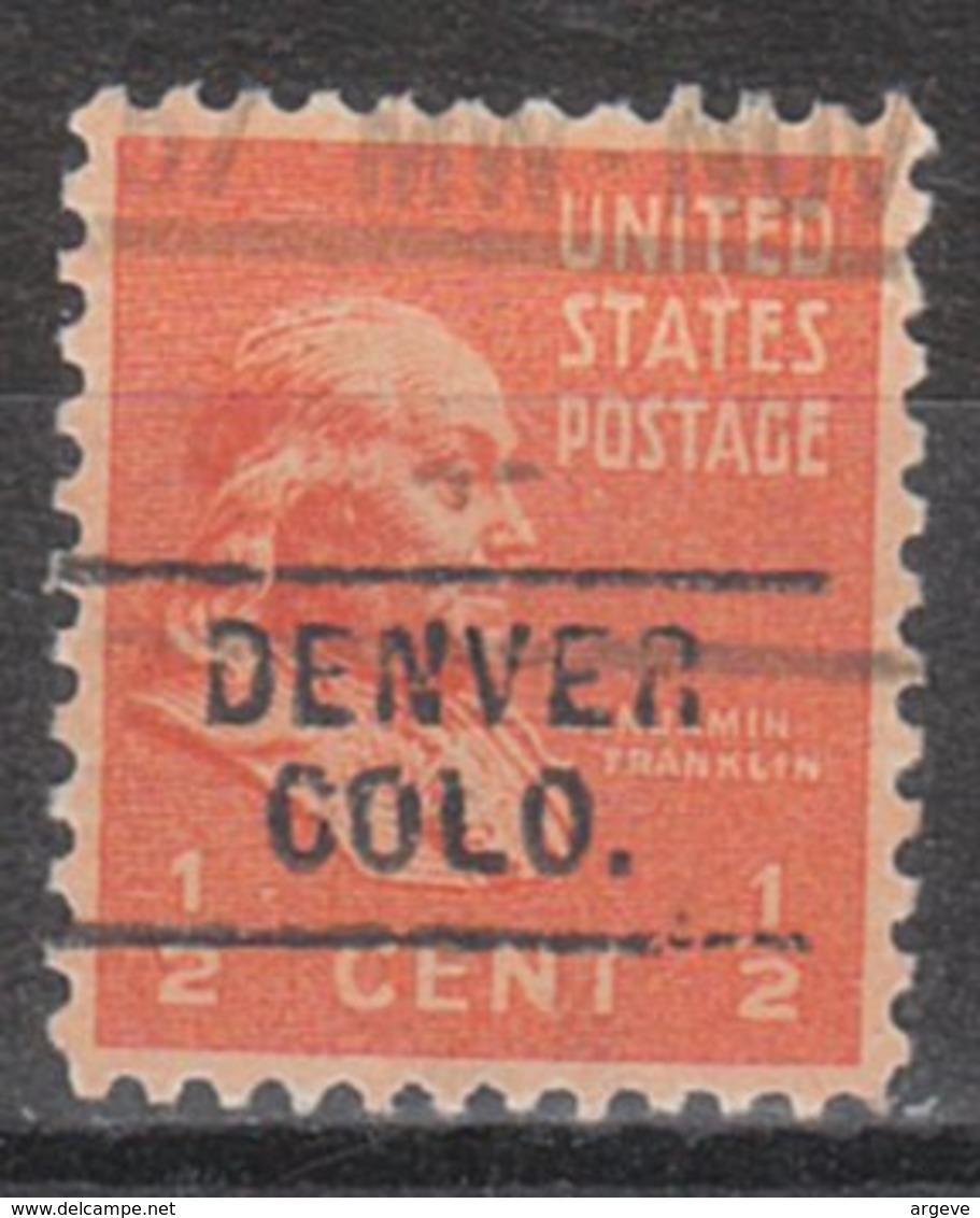 USA Precancel Vorausentwertung Preo, Locals Colorado, Denver 729 - Vereinigte Staaten