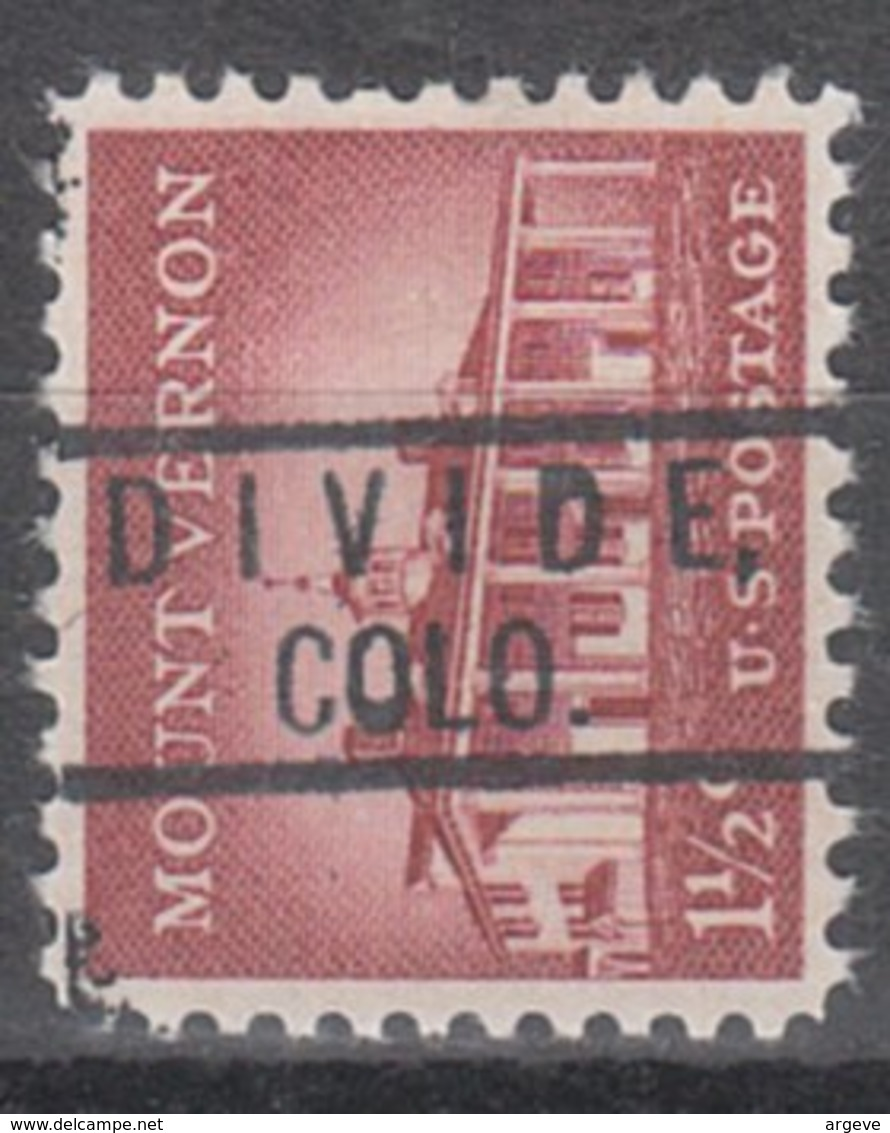 USA Precancel Vorausentwertung Preo, Locals Colorado, Divide 801 - Vereinigte Staaten