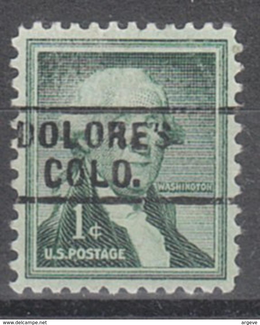 USA Precancel Vorausentwertung Preo, Locals Colorado, Dolores 729 - Vereinigte Staaten