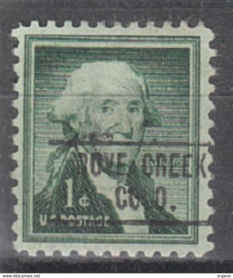 USA Precancel Vorausentwertung Preo, Locals Colorado, Dove Creek 750 - Vereinigte Staaten