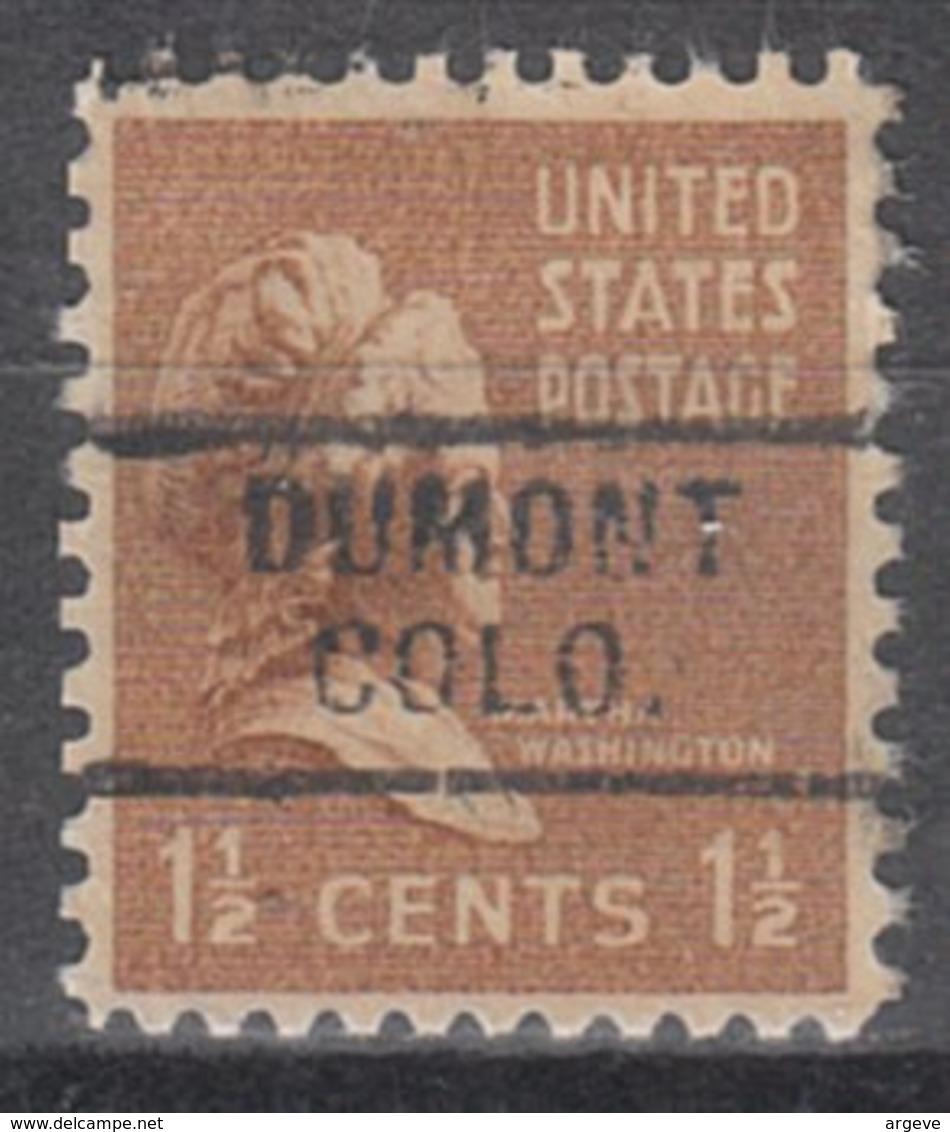 USA Precancel Vorausentwertung Preo, Locals Colorado, Dumont 729 - Vereinigte Staaten