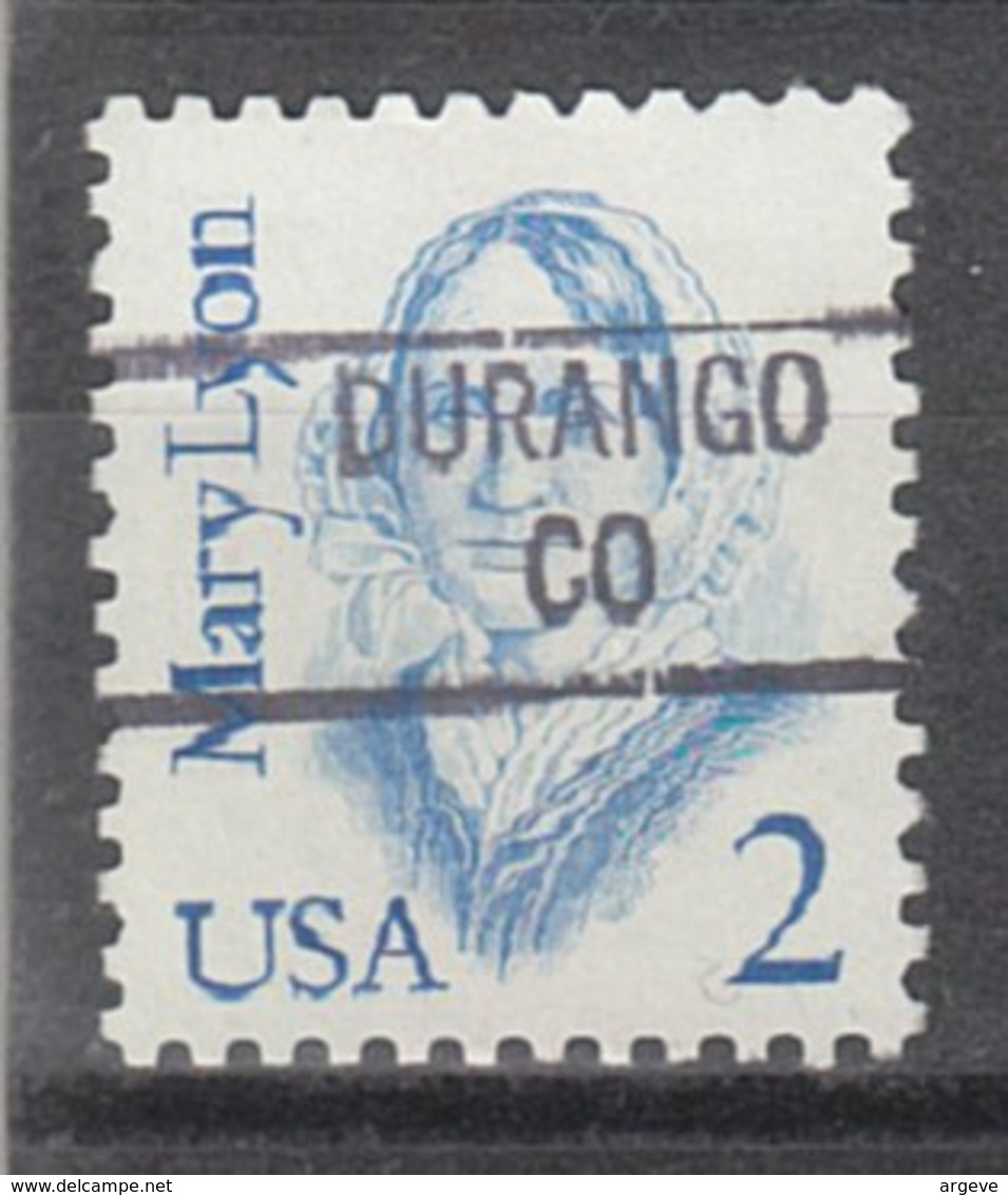 USA Precancel Vorausentwertung Preo, Locals Colorado, Durango 841 - Vereinigte Staaten