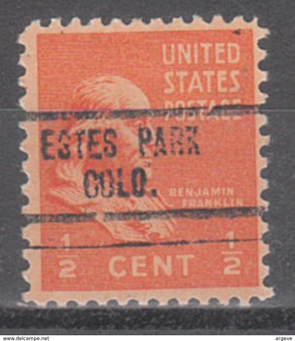 USA Precancel Vorausentwertung Preo, Locals Colorado, Estes Park 734 - Vereinigte Staaten