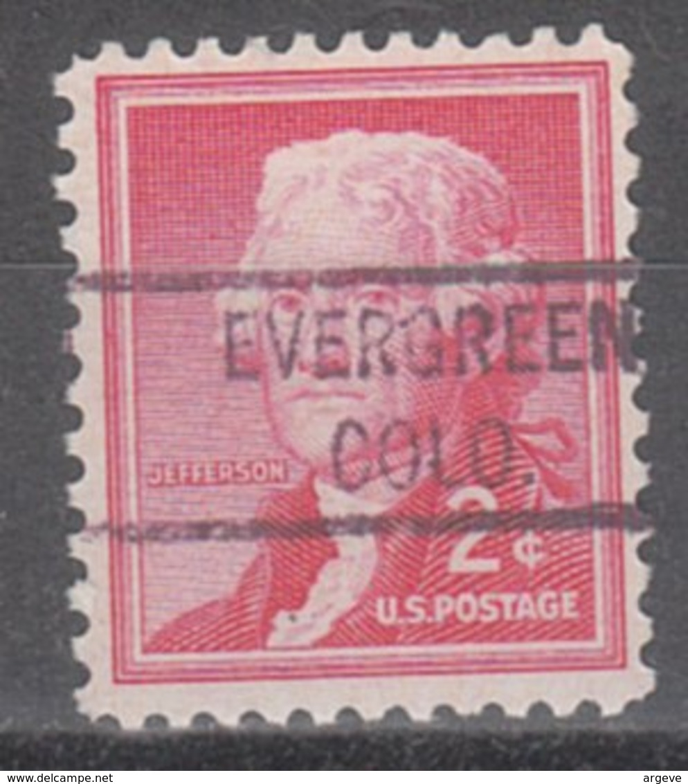 USA Precancel Vorausentwertung Preo, Locals Colorado, Evergreen 821 - Vereinigte Staaten