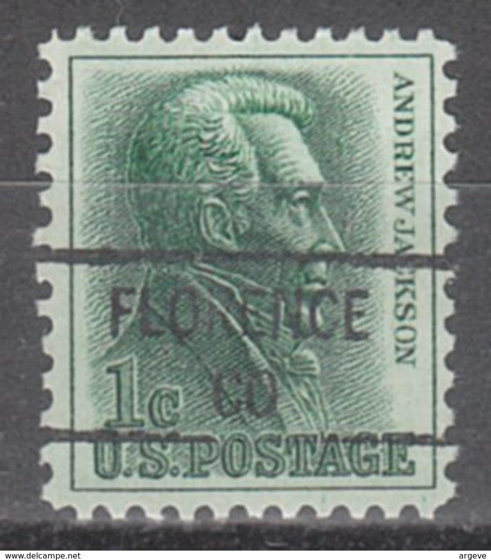 USA Precancel Vorausentwertung Preo, Locals Colorado, Florence 841 - Vereinigte Staaten