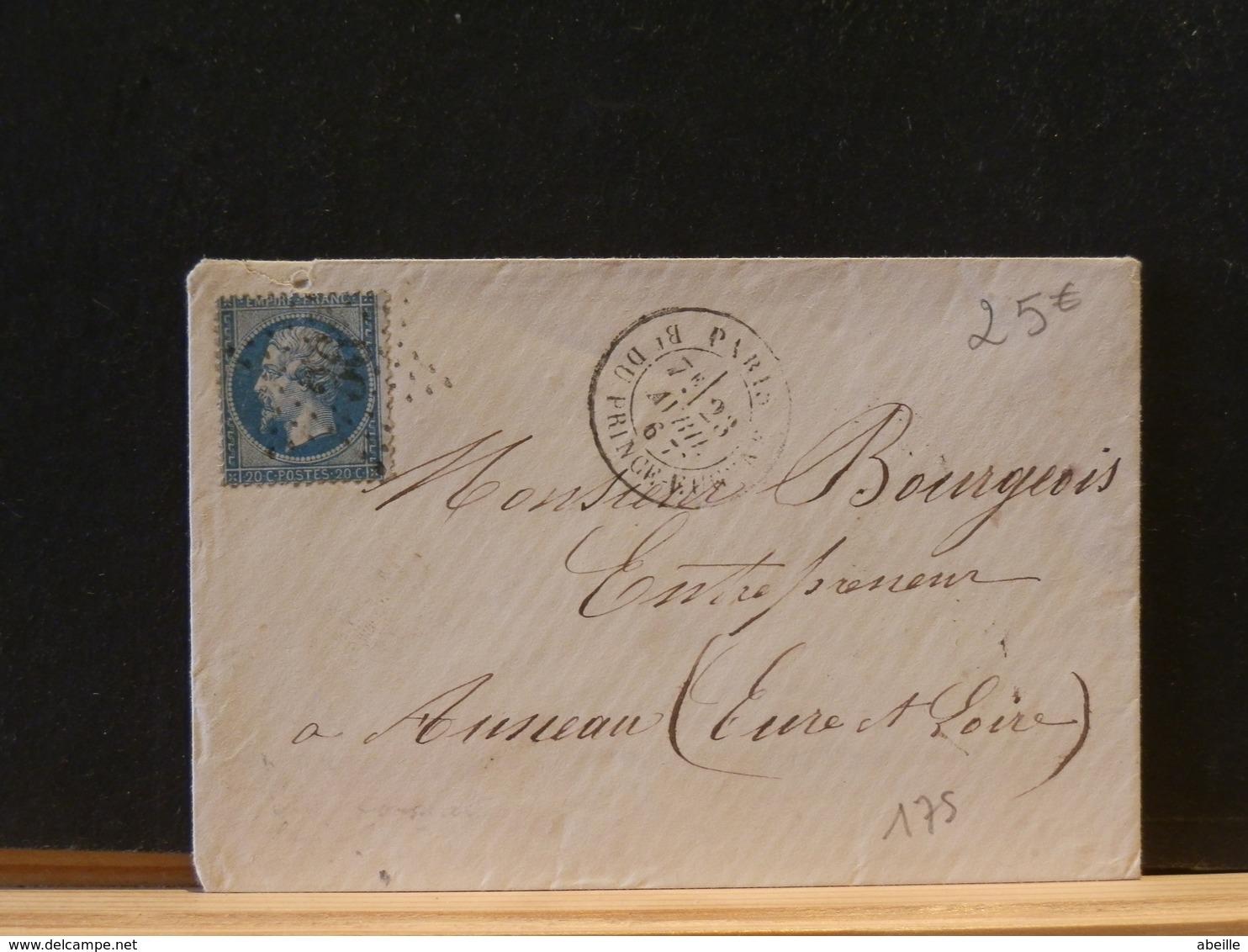 82/839  LETTRE   DE PARIS   ETOILE NR.36  B. DU PRINCE ENGHEIN - Marcophilie (Lettres)