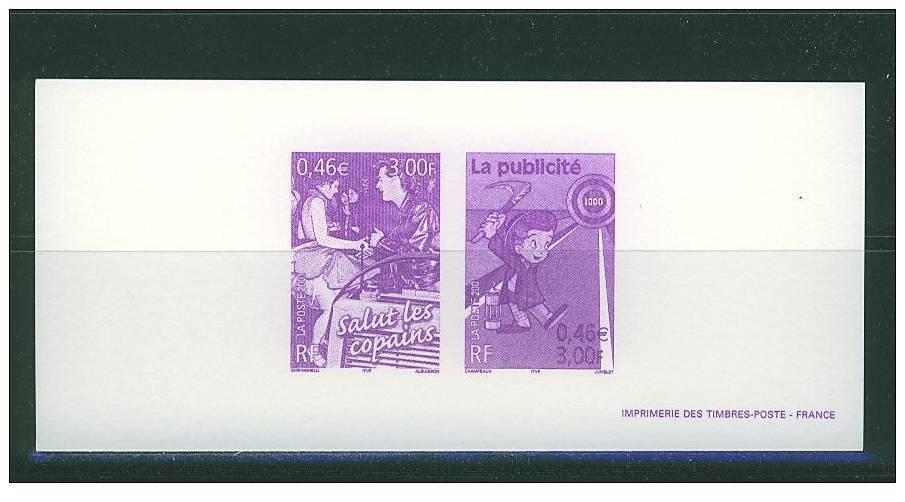 GRA3373 Mineur Publicite Cinema Radio Salut Les Copains Rock 3373 3375 France 2001 Gravure Officielle - Comics