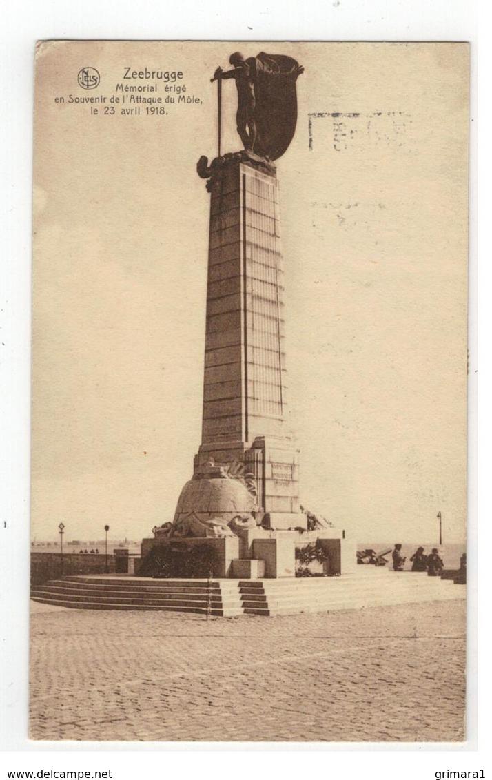 Zeebrugge Mémorial érigé En Souvenir De L'Attaque Du Môle Le 23 Avril 1918 - Blankenberge