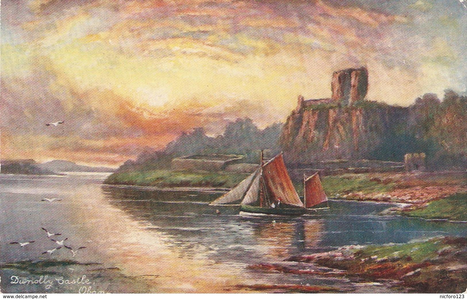 """F.W. Hayes. Sunolly Castle"" Tuck Oilette Scottish Castles Ser. PC # 7181 - Tuck, Raphael"
