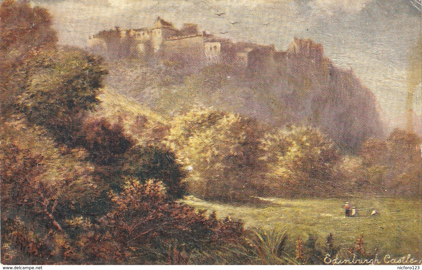 """F.W. Hayes.Edinburghr Castle"" Tuck Oilette Scottish Castles Ser. PC # 7181 - Tuck, Raphael"