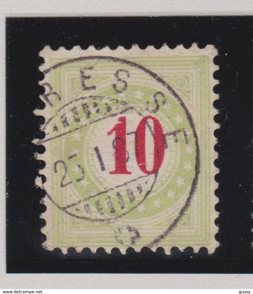 SUISSE Taxe 1884-86:  10 C. Vert Pâle  (ZNr 18B ) Oblitéré - Portomarken
