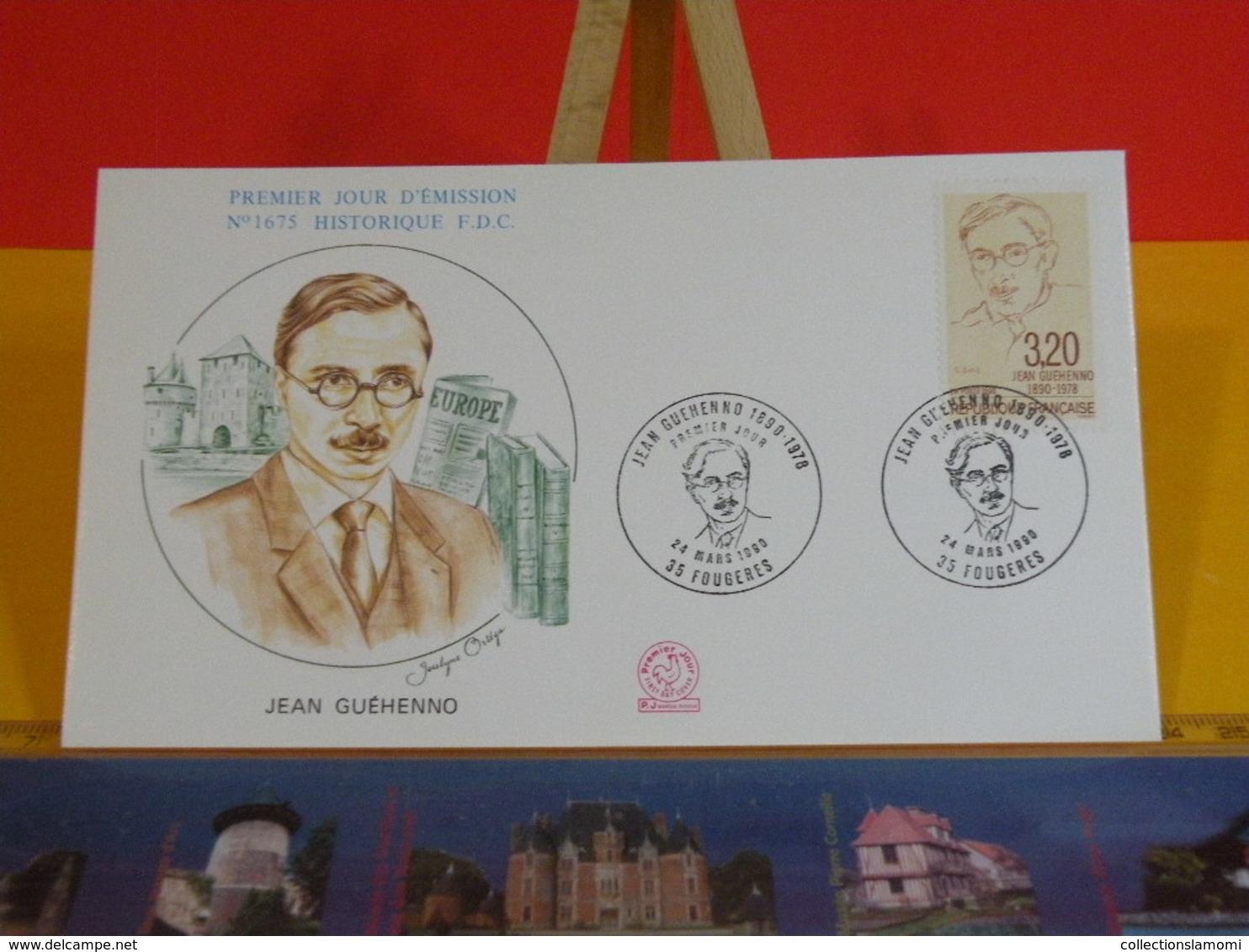 Jean Guéhenno - 35 Fougères - 24.3.1990 FDC 1er Jour N°1675 - Coté 2,50€ - FDC