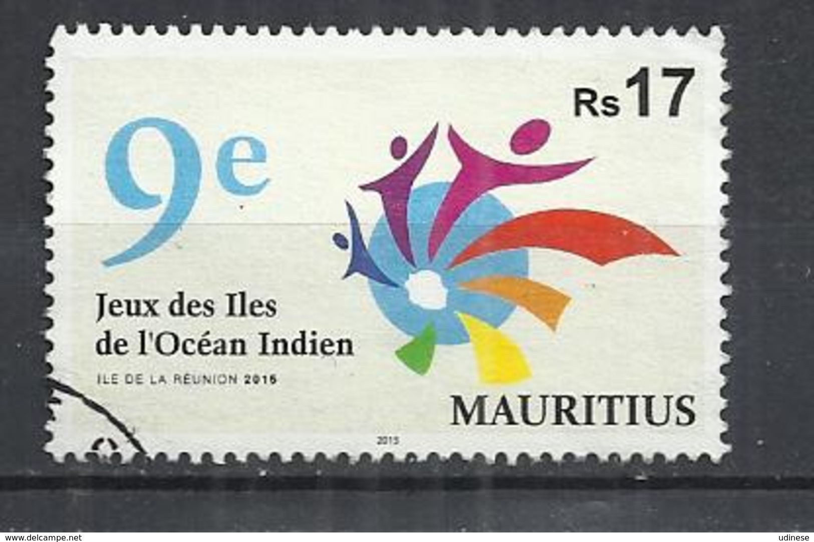 MAURITIUS 2015 - 9th GAMES OF ISLANDS OF THE INDIAN OCEAN - POSTALLY USED OBLITERE GESTEMPELT - Maurice (1968-...)