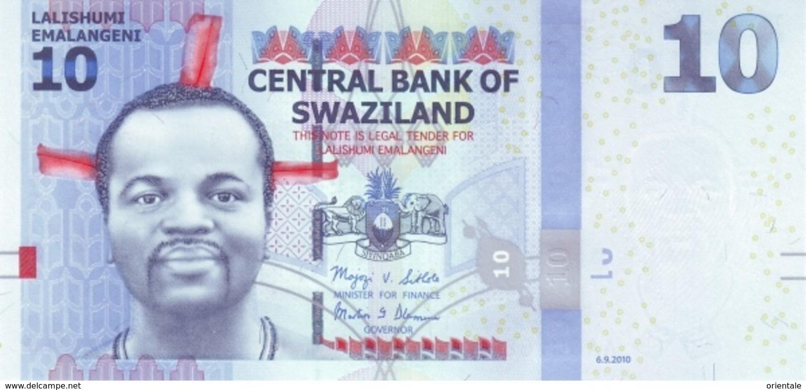 SWAZILAND P. 36a 10 E 2010 UNC - Swaziland