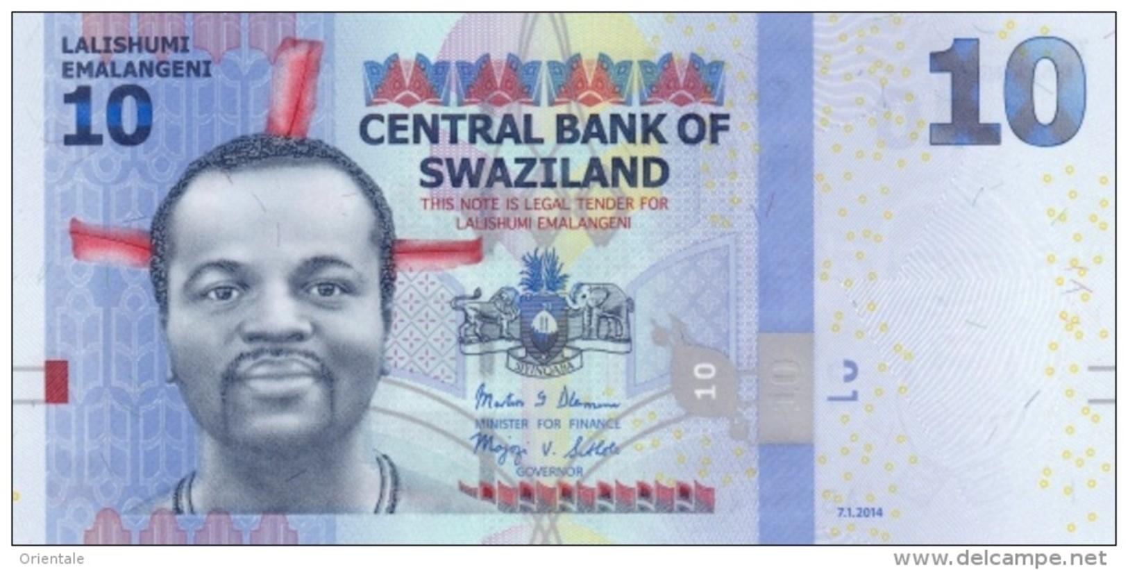 SWAZILAND P. 36b 10 E 2014 UNC - Swaziland