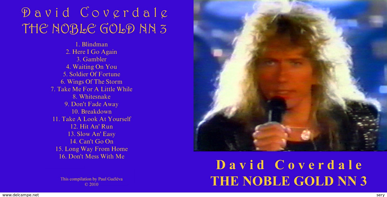 Superlimited Edition CD David Coverdale. THE NOBLE GOLD N2. - Limited Editions
