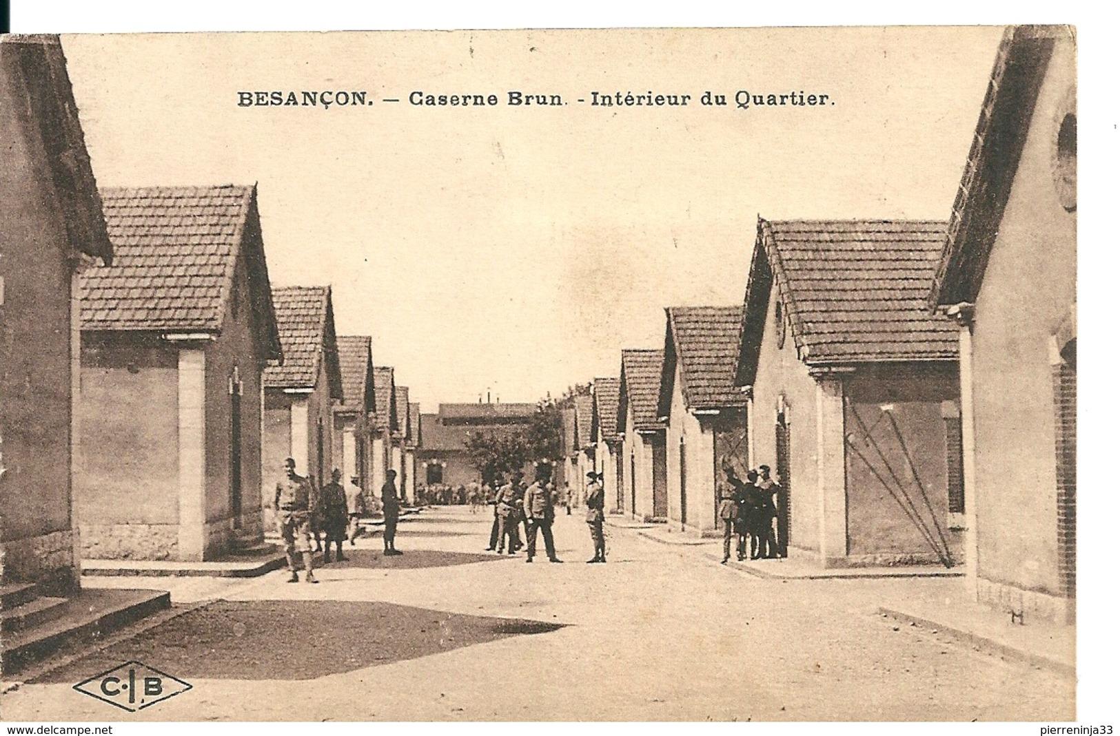 Carte Besançon,Caserne Brun Avec Affranchissement Mixte France/Colonies , 1925 - France