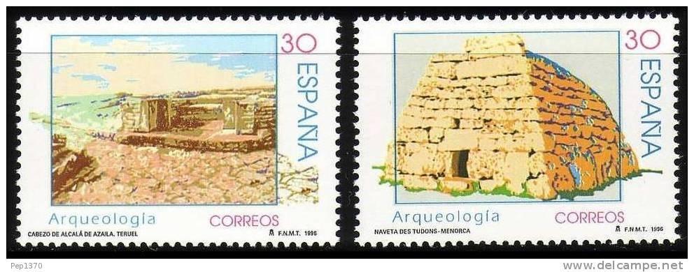 ESPAÑA 1996 - ARQUEOLOGIA - Edifil 3448-3449 - Yvert 3029-30 - 1931-Hoy: 2ª República - ... Juan Carlos I