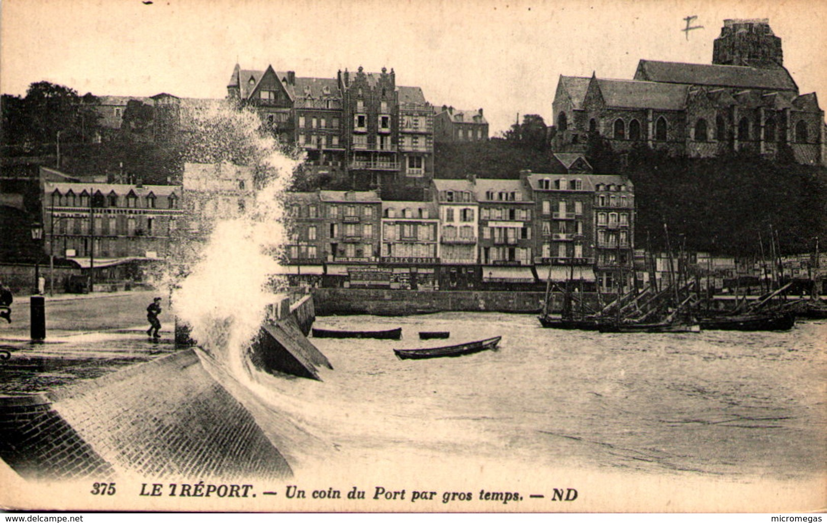 76 - LE TREPORT - Un Coin Du Port Par Gros Temps - Le Treport