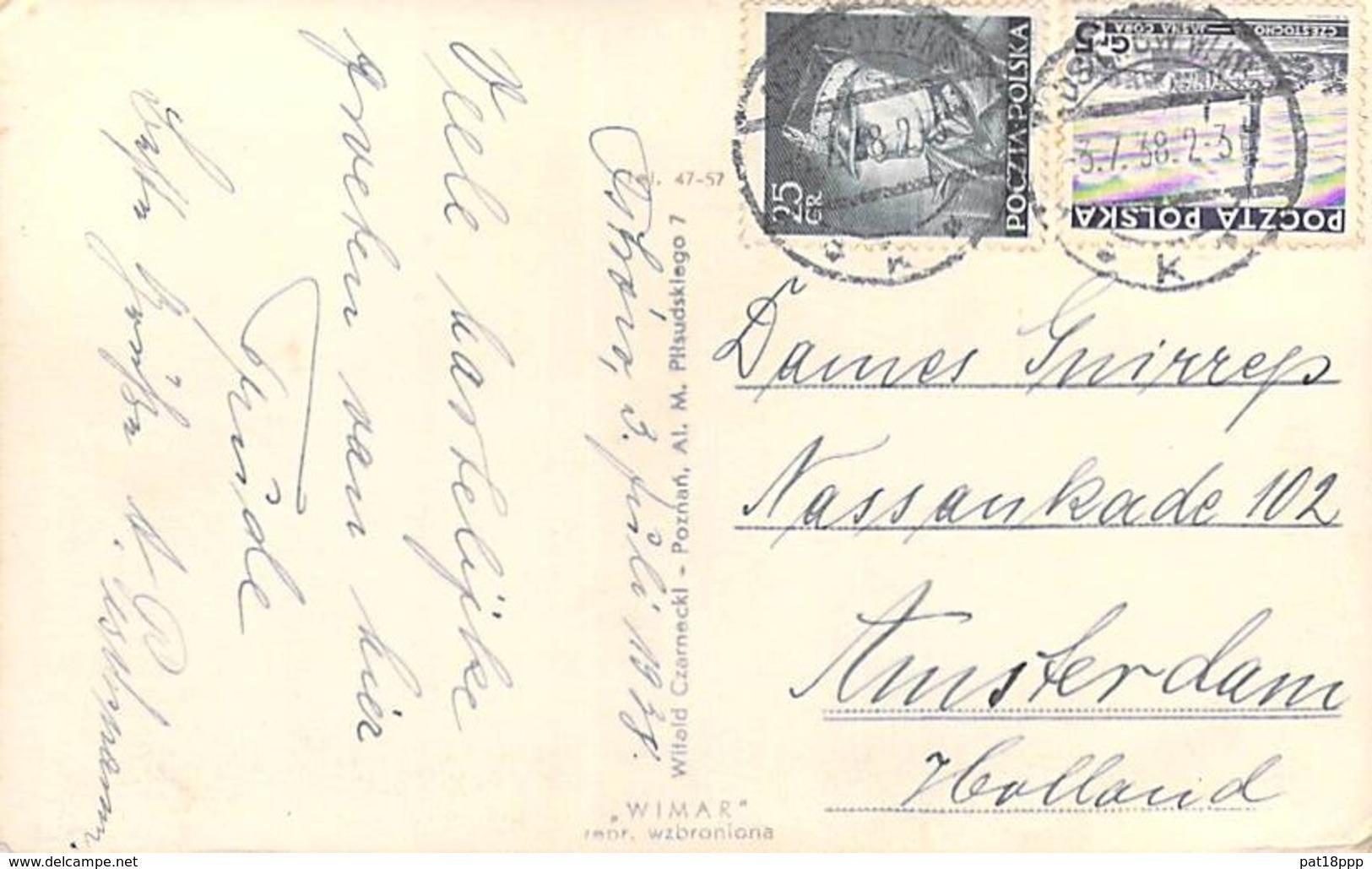 POLOGNE Polska - OSTROW Wkp. Ul. M. PILSUDSKIEGO - CPSM Photo Format CPA 1938 - Poland Polen - Pologne