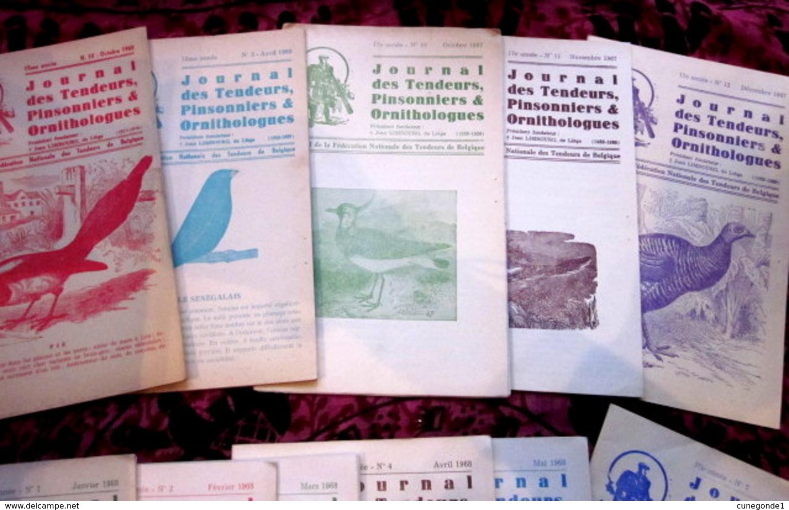 """Lot De 19 Revues """" Journal Des Tendeurs, Pinsonniers Et Ornithologues """" De 1965 à 1970 - Natur"""