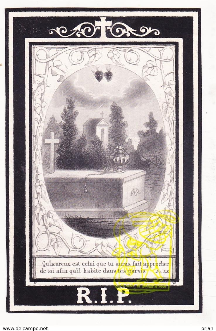 DP Notaris Norbert De Brauwer ° Roeselare 1825 † 1868 X Melania S. Syoen Sioen - Images Religieuses