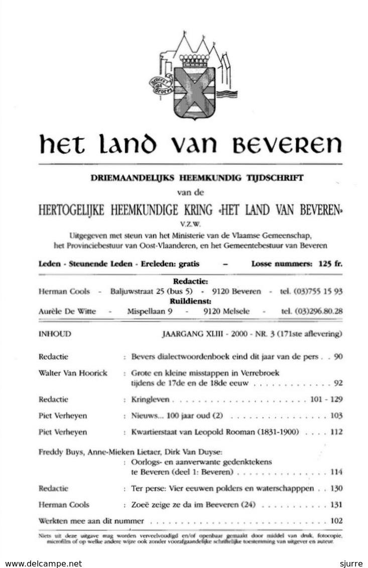 Het Land Van Beveren Nr 3/2000 - Histoire