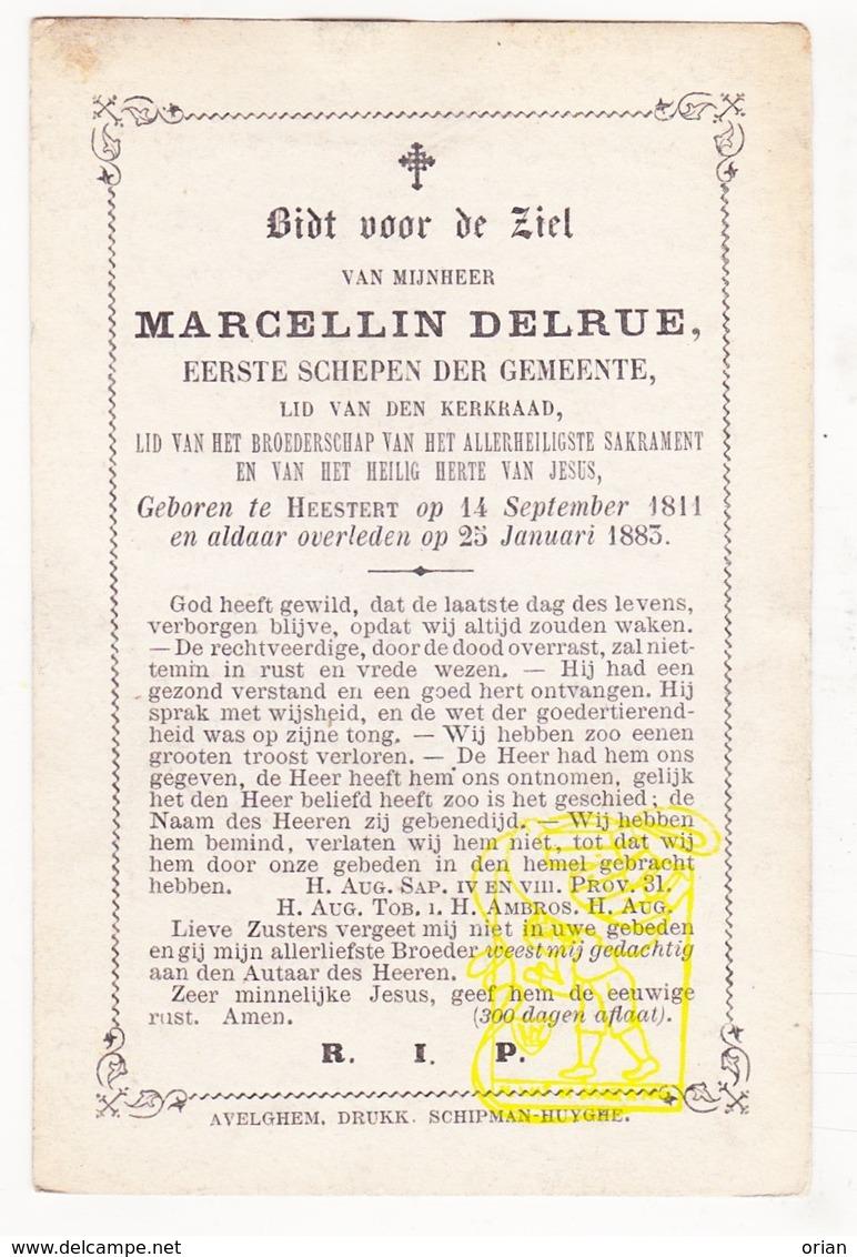DP Schepen Marcellin Delrue ° Heestert Zwevegem 1811 † 1883 - Images Religieuses