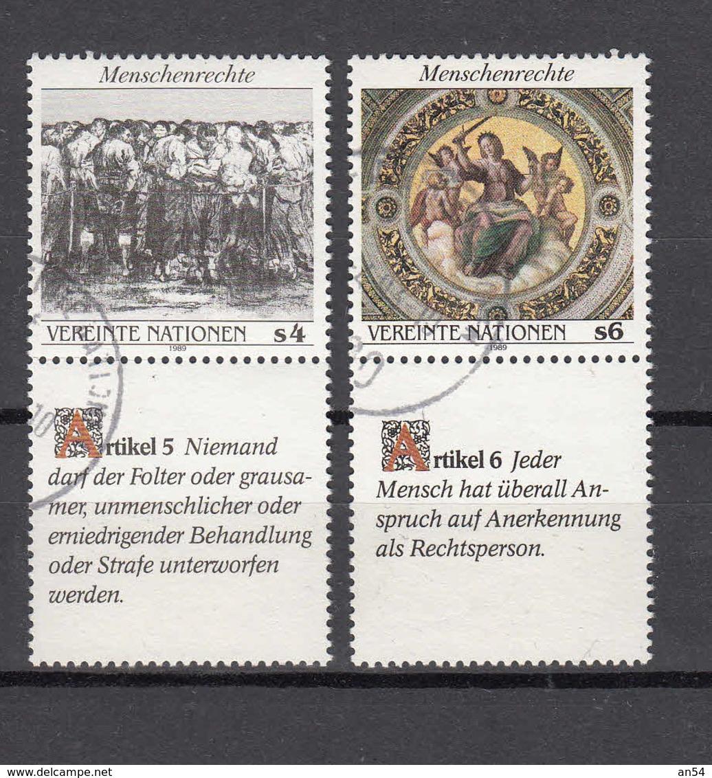 1989      N° 96 - 99  OBLITERES              CATALOGUE   YVERT&TELLIER - Centre International De Vienne