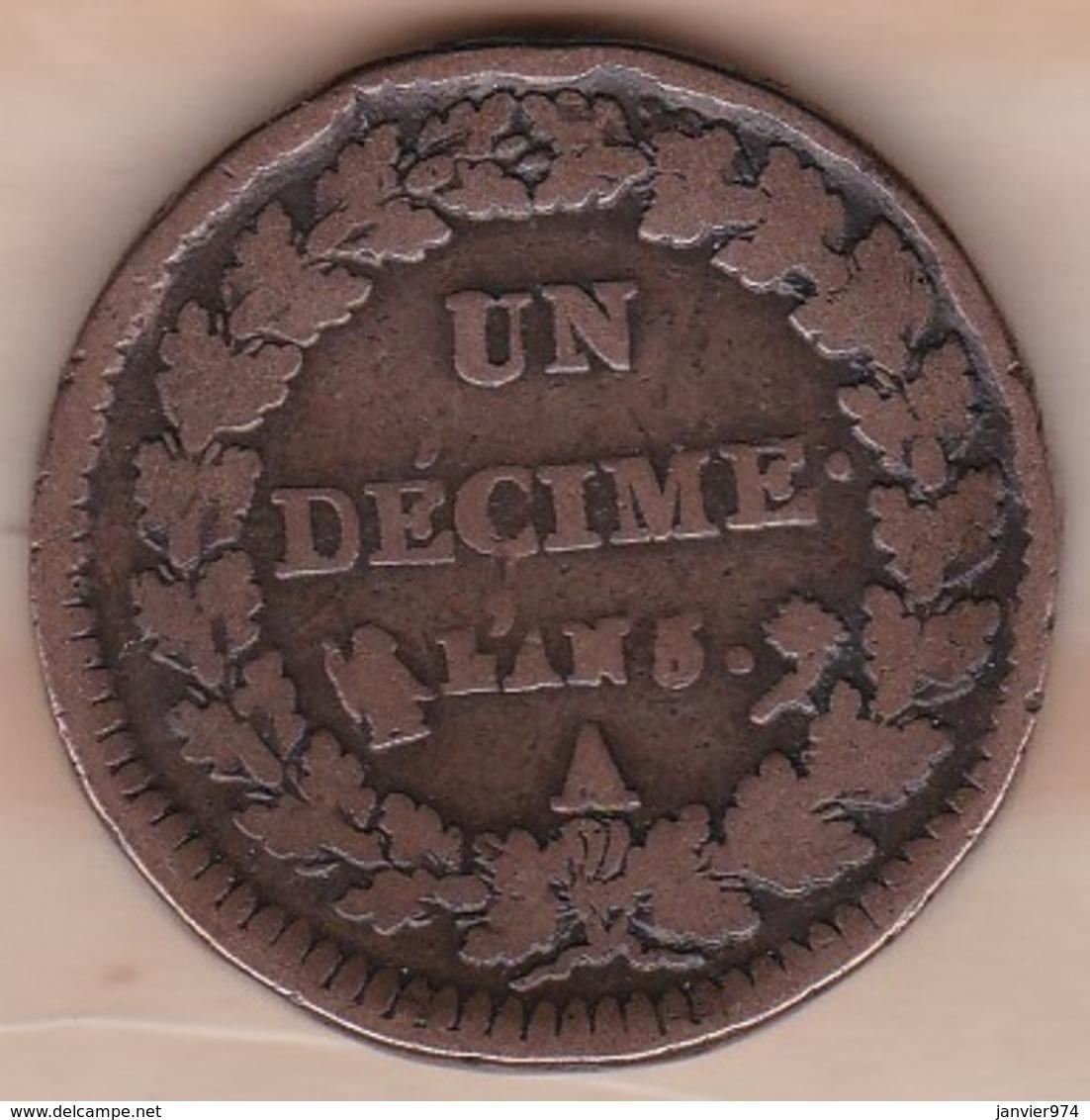 Directoire. Un Decime L'An 5 A Paris . - France