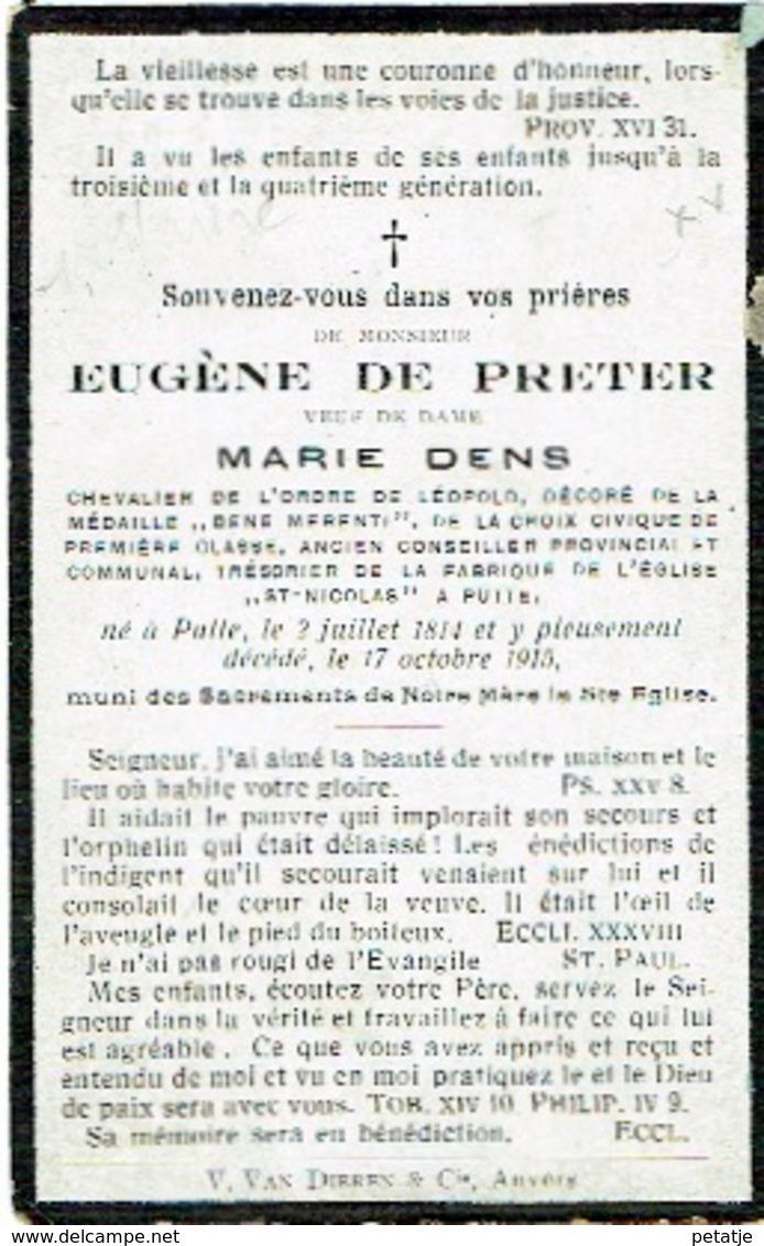 Eugène De Preter - Images Religieuses