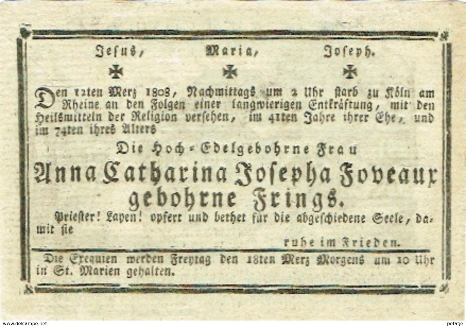 Anna Catharina Josepha Fobeaux (geboren Frings) - Images Religieuses