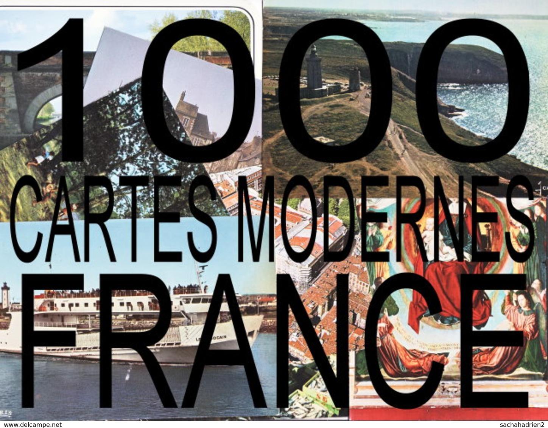 Lot De 1000 Cartes Mordernes De FRANCE - Cartes Postales