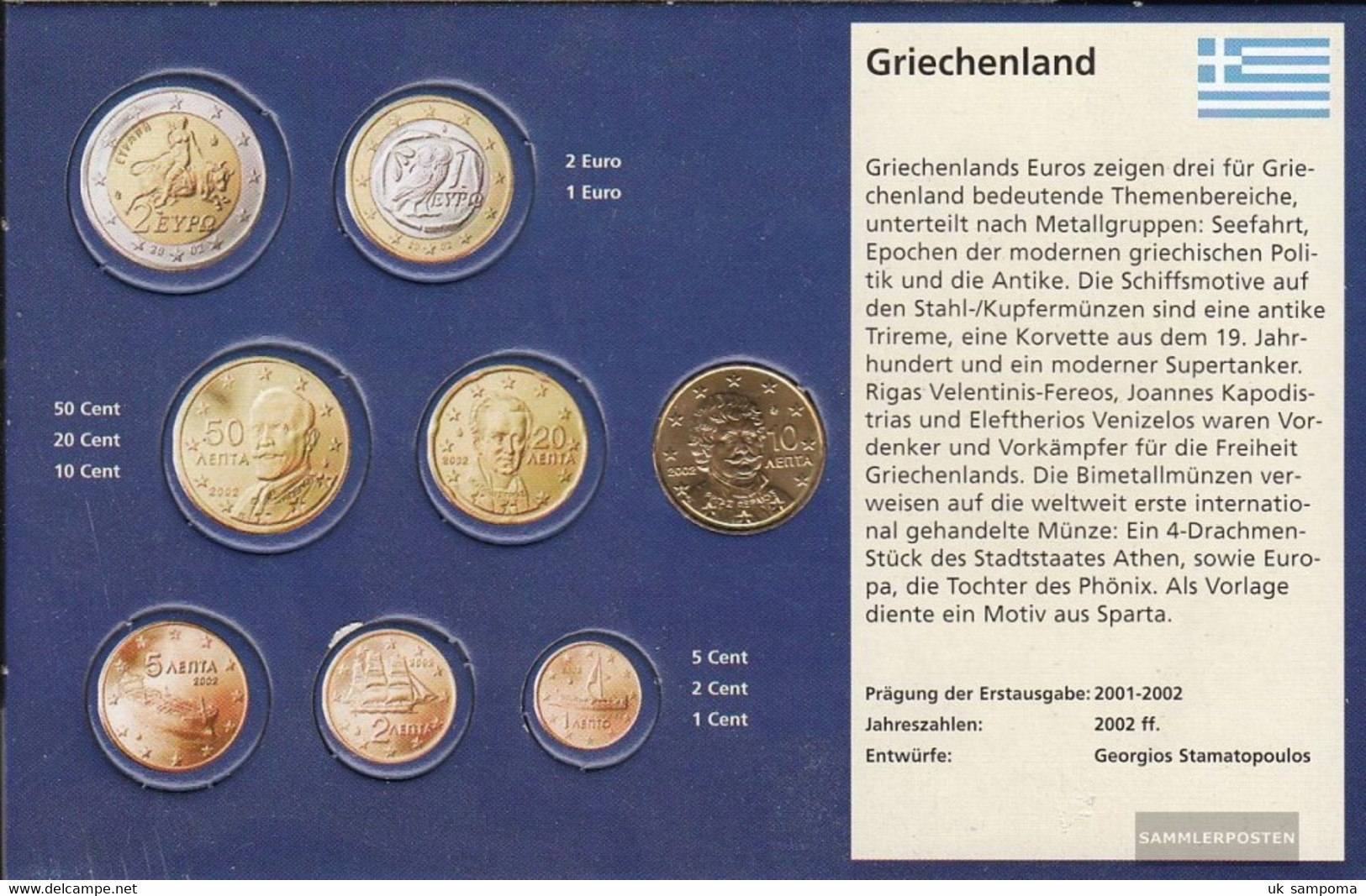 Greece Grams 4 2002 G Stgl./unzirkuliert With Geheimzeichen 2002 Kursmünze 10 Cent - Grèce