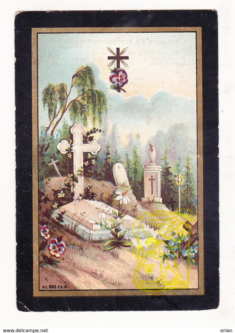 DP Jufvrouw Alix Oste / De Greve 31j. ° Hamme 1858 † 1890 - Images Religieuses
