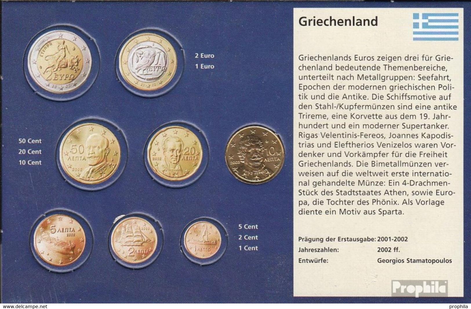 Griechenland GR 4 2002 G Stgl./unzirkuliert Mit Geheimzeichen 2002 Kursmünze 10 Cent - Grèce
