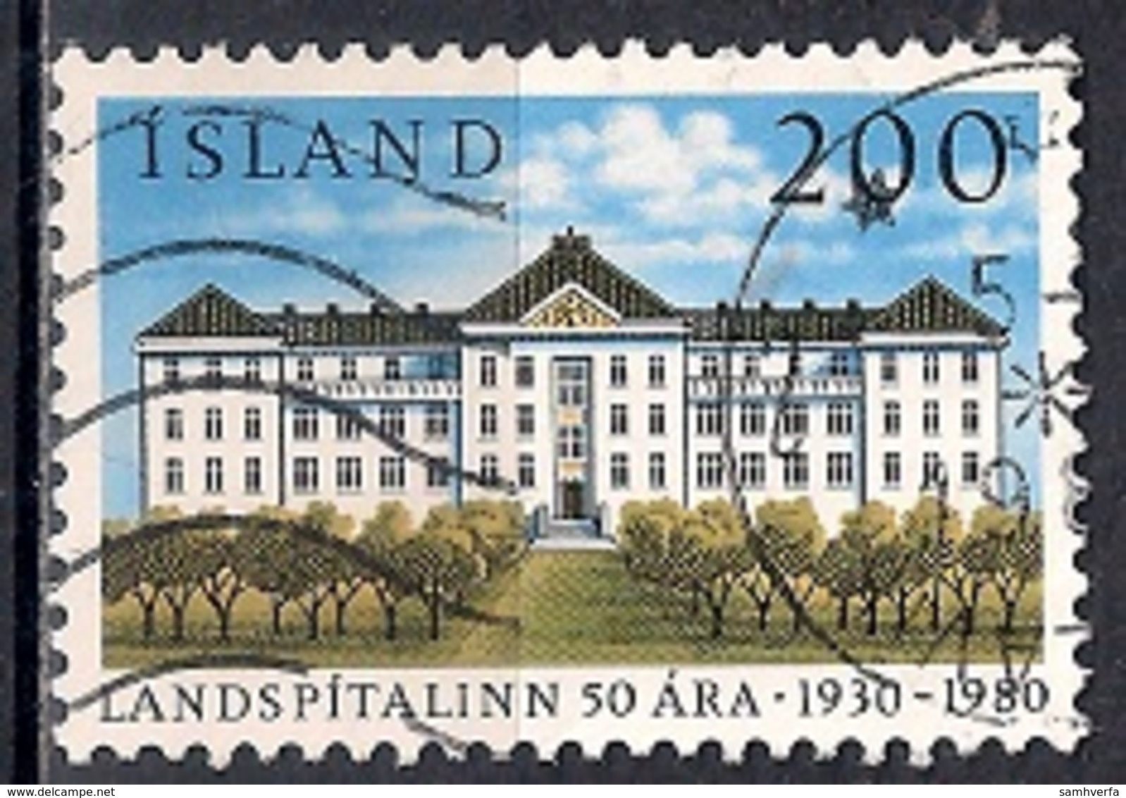 Iceland 1980 - The 50th Anniversary Of The National Hospital - 1944-... Republik
