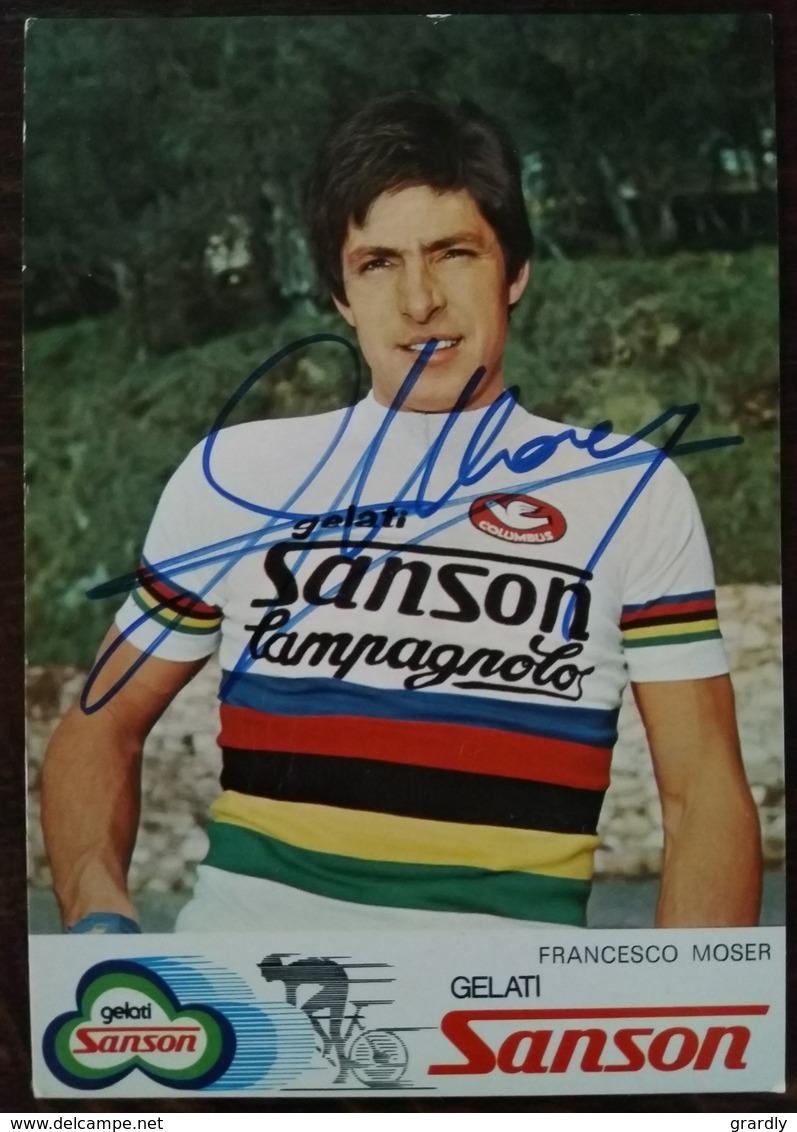 CYCLISME Francesco MOSER Dédicacée SANSON - Cyclisme