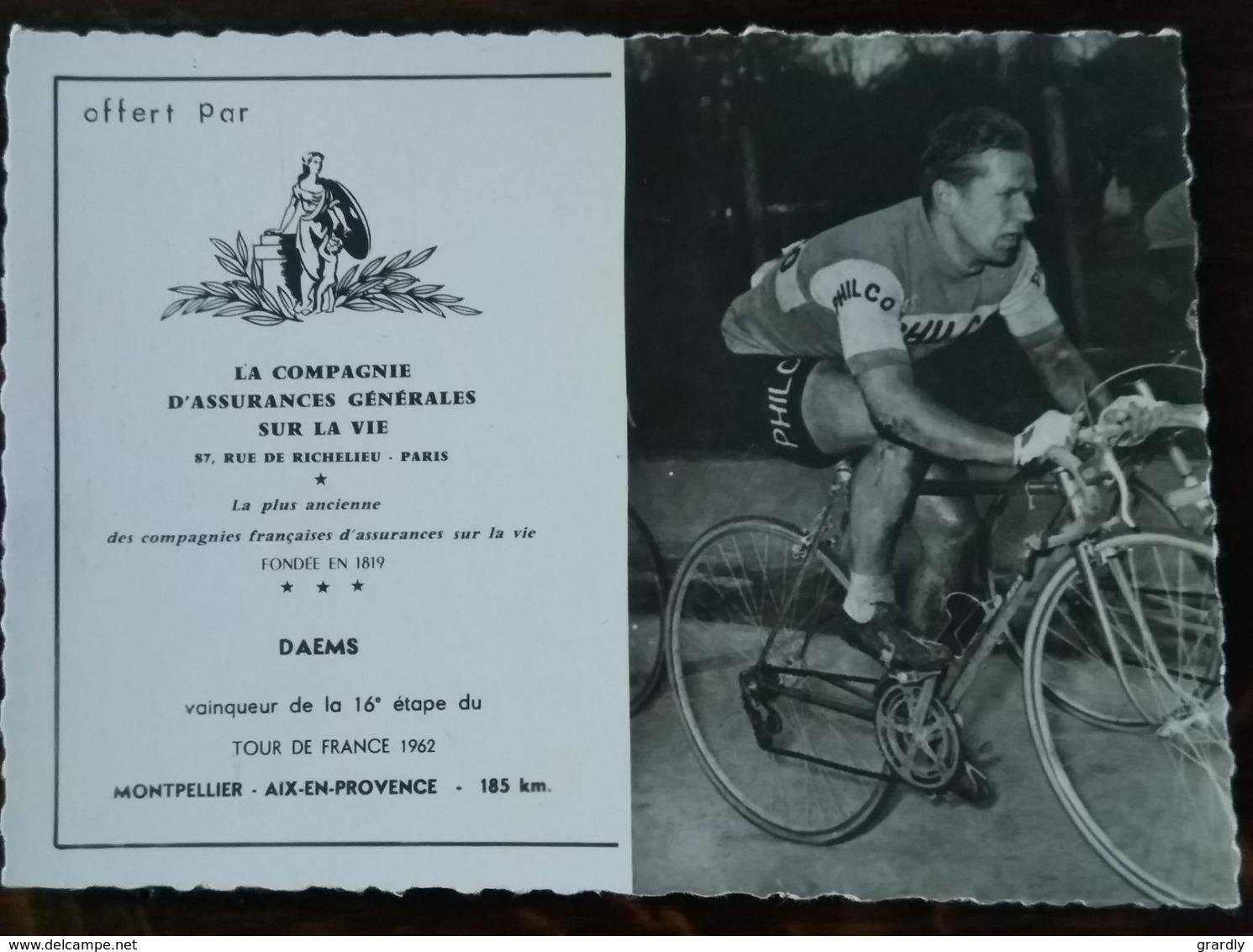 CYCLISME  DAEMS Emile Assurances Sur La Vie - Cyclisme