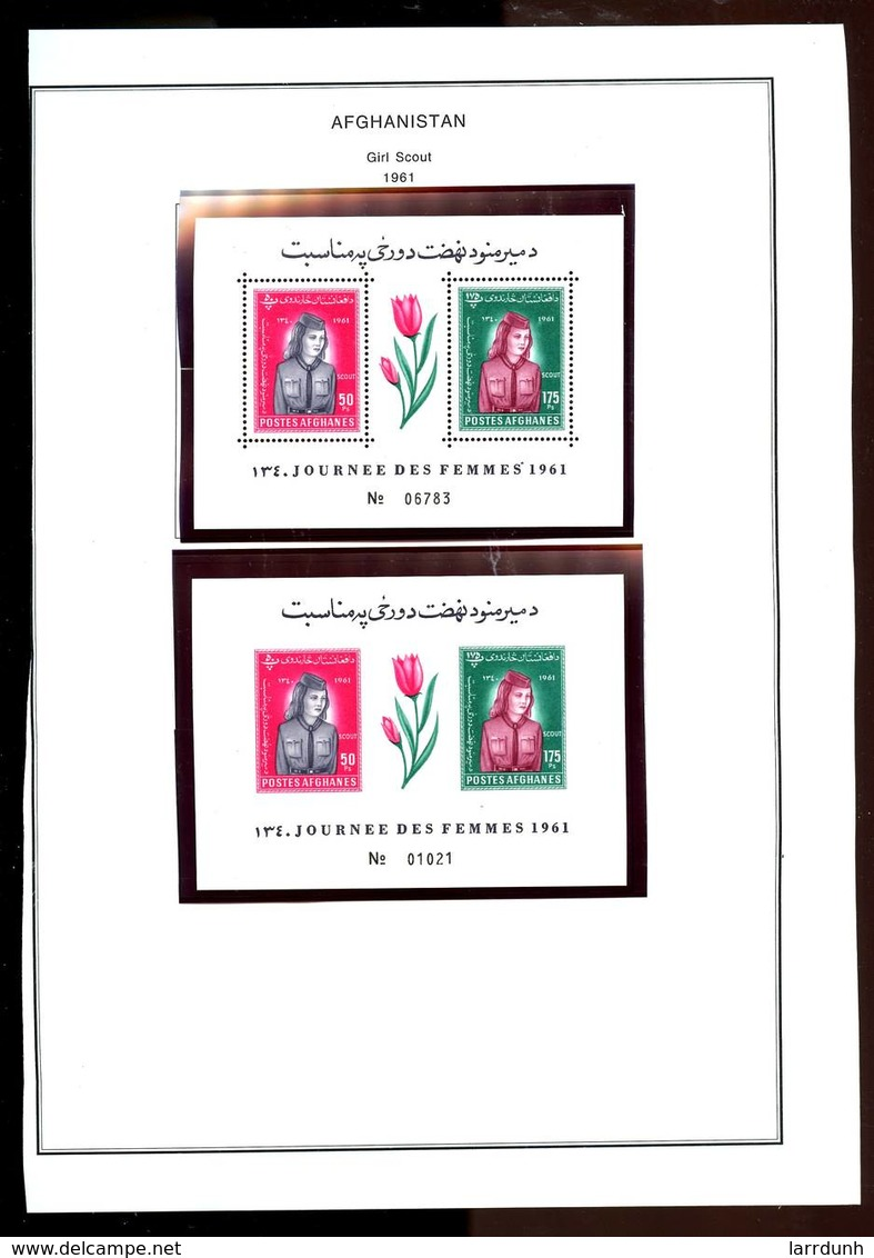 Afghanistan 510-511 Girl Scout Women's Day Souvenir Sheet Perf Imperf MNH 1961 A04s - Afghanistan