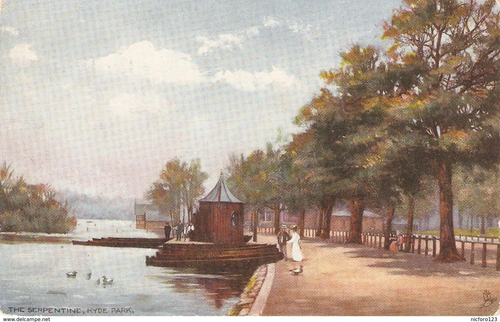 """The Serpentine. Hyde Park. Londo"" Tuck Oilette Postard # 7180 - Tuck, Raphael"