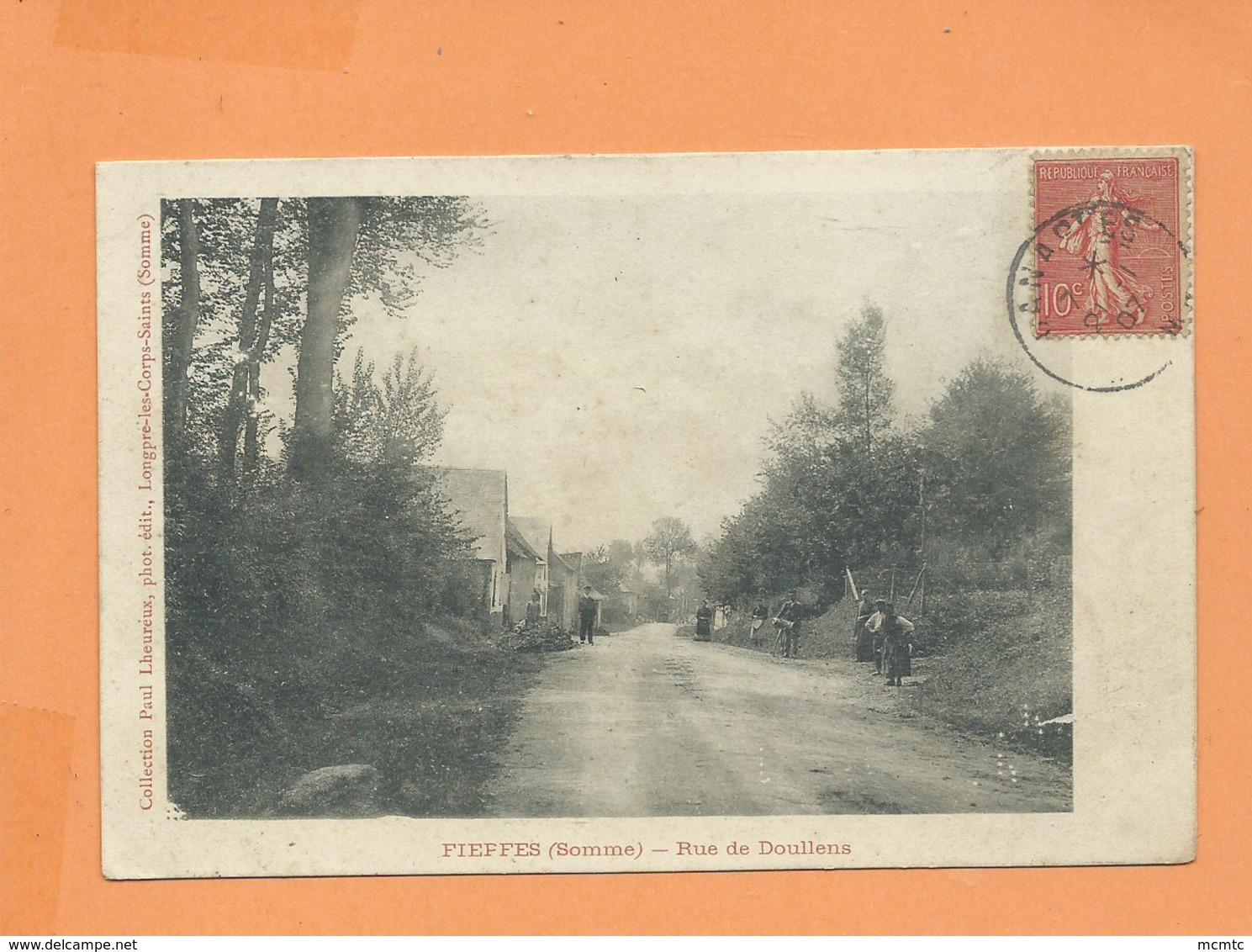 CPA   - Fieffes  -(Somme ) - Rue Dd Doullens - Autres Communes