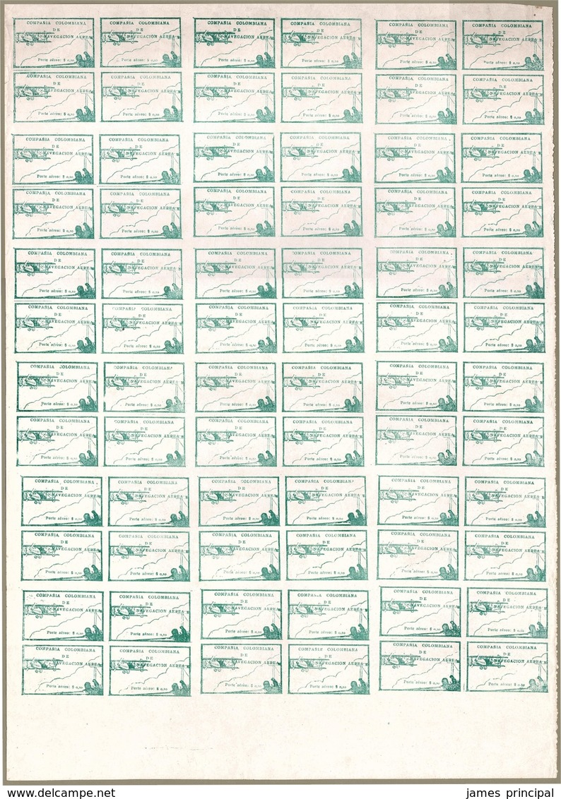 Colombia. CCNA. Sc #11. Sheet Of 72. VF NH. - Colombia